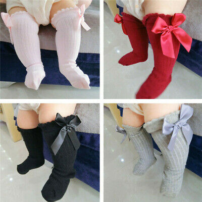 Baby Toddler Girls Cotton Knee High Socks Tights Leg Warmer Stockings For 0-4Y