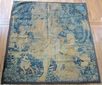 LATE 16th CENTURY antique FLEMISH TAPESTRY FRAGMENT