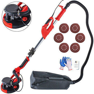 Drywall Sander 750W Folding Handle Variable Speed Sanding Pad w/ Vacuum Bag