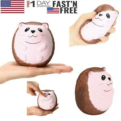 Cute Jumbo Hedgehog Scented Charm Slow Rising Stress Reliever Doll Toy