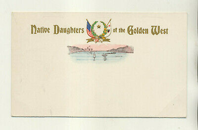 Unmailed Native Daughters Of Golden West Postcard With S.f Earthquake Reference