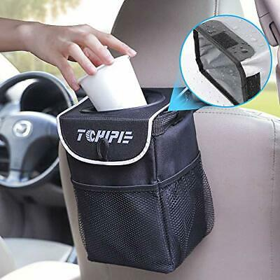 Tchipie Car Rubbish Bin, Car Bin Waterproof Car Trash Can, Foldable Car Garbage