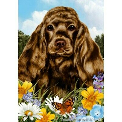 Summer Garden Flag - Chocolate Cocker Spaniel 182061
