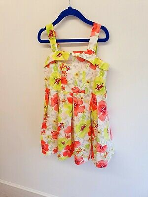 Next Girls Summer Dress Age 6 Years Floral Lined Netted