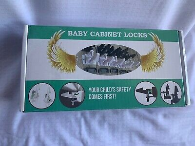 Rohs Baby Cabinet Locks 12 Pack White New, includes hardware.