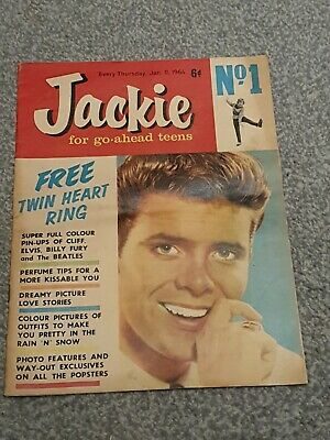 JACKIE MAGAZINE ISSUE 1 - 11th JAN 1964 -  !! RARE & VALUABLE !! COLLETABLE MAG