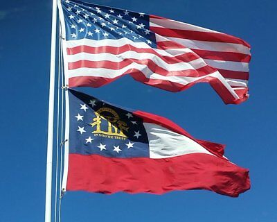 25 FT Residential Flag Pole Flagpole Kit & 3x5 US American Flag Eagle Brass Top