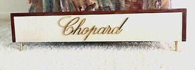Rare CHOPARD boutique display sign.