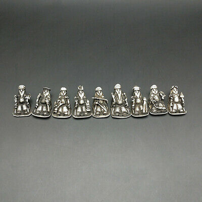 Pure Handmade miao silver assessories Chinese ancient figure DIY ornament 1piece