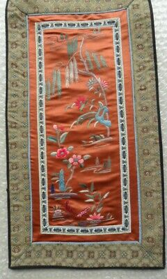 Chinese 100%Hand embroidered Peking Embroidery Art:flower