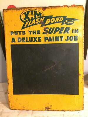 "VINTAGE FLASH BOND #300 MENU/ CHALKBOARD METAL SIGN 24"" X 18"" Gas Station"