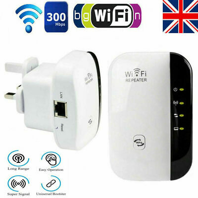 WiFi Range Extender Super Booster 300Mbps Superboost Speed Wireless Repeater UK