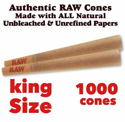 raw organic KING SIZE cone pre rolled with filler cone (100 pack)