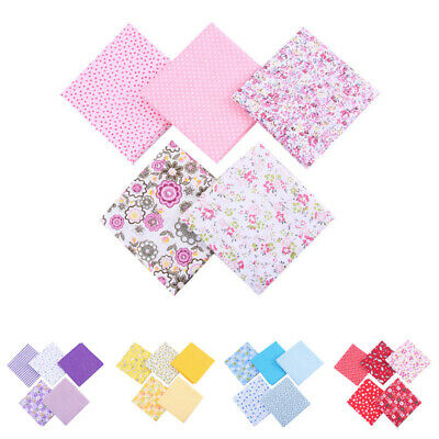 5Pcs DIY 50*50cm Mixed Pattern Cotton Fabric Sewing Quilting Patchwork Crafts D