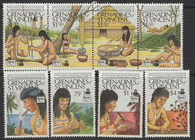 GRENADINES OF ST.VINCENT SG617/24 1989 500th ANNIV OF DISCOVERY OF AMERICA MNH