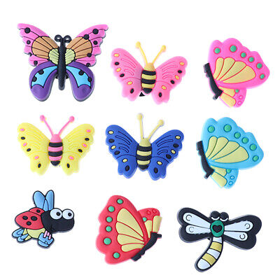10 Pcs Butterfly Cartoon Shoe Buckle Decoration shoe Accessories On Sh~ AE