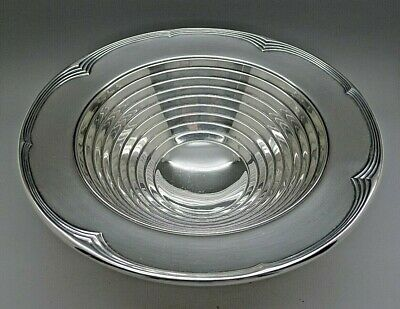 INTERNATIONAL STERLING SILVER ART DECO c.1930's RARE FOOTED BOWL ESTATE  LOOK