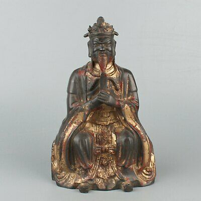 Chinese Exquisite Handmade the ancients copper statue