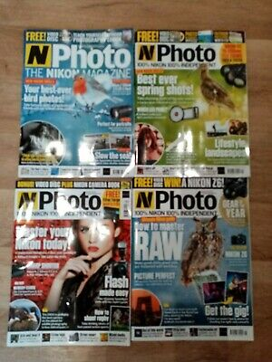 Joblot of 4 items N photo magazine  year 2019 good conditions no cds