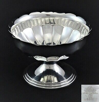 Vintage Small Mappin & Webb Faceted Nuts Sweets Tips Dish Bowl Silver Plated