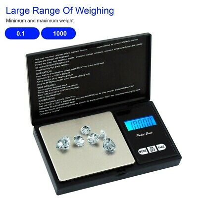 1000g/0.01g Digital Waage Feinwaage Taschenwaage Goldwaage Juwelierwaage Mini
