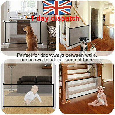 UK✔✔ Folding Retractable Pet Dog Gate Safety Guard Baby Toddler Stair Isolation