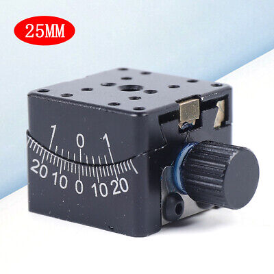 Manual Goniometer Stage Dovetail Platform Worm Gear Drive 25x25mm ±30° Rotation
