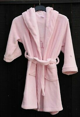 CLASSIC Girls Pink Lily Bathrobe Dressing Gown Polyester Age 5 - 6 Years
