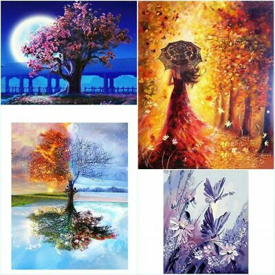 DIY Scenery Painting by Numbers Kit-Includes Paints/Brush/Board-for Beginners