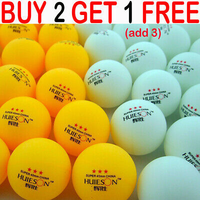 40mm Professional 3 Stars Table Tennis Balls Ping Pong Training Competition YYUK