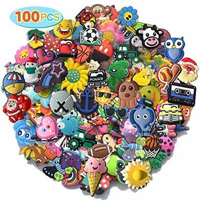100pcs Random PVC Different Shoe Charms For Shoe Decoration Wristband Bracelet