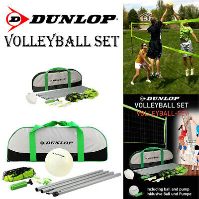 New Dunlop Volleyball Set With Carry Bag Portable Outdoor Garden Game Sport Net