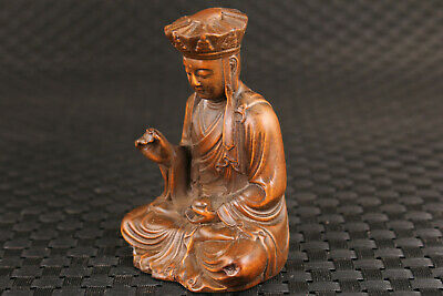 collection Chinese boxwood hand carved tong monk buddha statue home decoration