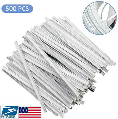 Flat Plastic Strips Nose Bridge 2 Iron Wires Clips DIY Wire for Sewing Crafts
