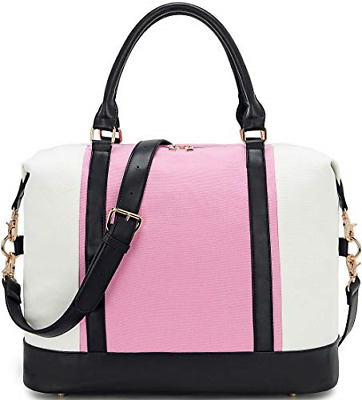 BLUBOON Weekender Overnight Bag for Women Canvas Carry-on Travel Tote Duffle Bag