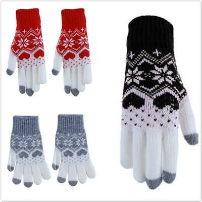 Fashion Thicken Couples Winter Gloves Riding Imitation Wool Stretch Knitted HO