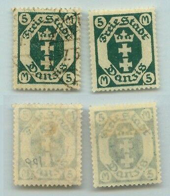 Danzig 1922 SC 100 mint and used vertical wmk non 1921-1930 . d890