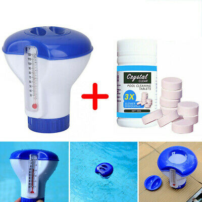 Swimming Pool Hot Tub Cleaning Tablet or Floating Chlorine Chemical Dispenser
