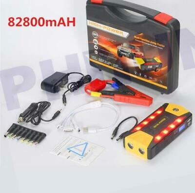 Portable 82800mAh Car Jump Starter Battery Booster Phone Power Charger 4 USB 12V