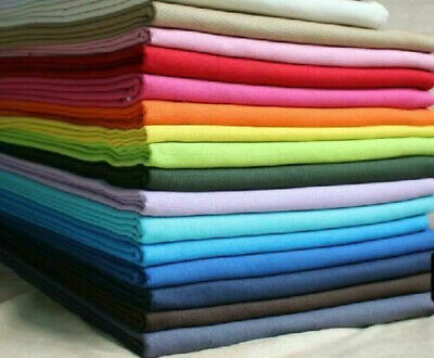 Plain Solid 100% Cotton Fabric Quilting Sewing Craft Patchwork Cloth Half Yard Y