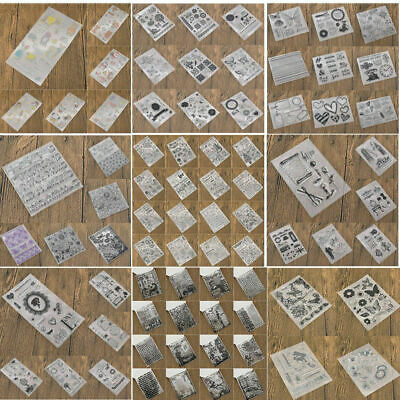 Silicone Clear Stamps Transparent Rubber Stamp DIY Scrapbooking Stencil Craft