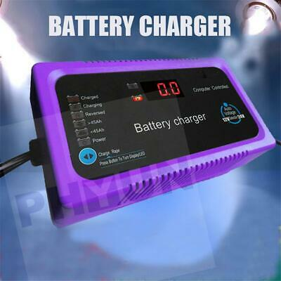 12V/24V 200AH Electric Car Motors Auto Intelligent Pulse Repair Battery Charger