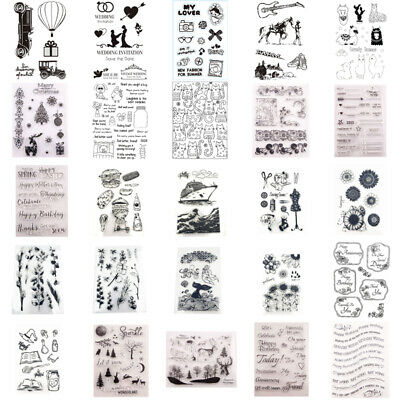 Silicone Clear Stamps Rubber Stamp Embossing Stencil Scrapbook Album Xmas Craft