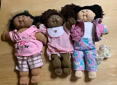 2 A/A Cabbage Patch Dolls And 1 Oriental? Cabbage Patch Doll
