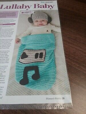 CROCHET PATTERN for BABY BOBBLE COCOON PAPOOSE /& HAT #315 NOT CLOTHES