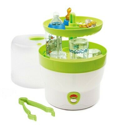 H+H Steam Sterilizer Steriliser 6 Baby Bottles Sterilizer BS 29 Green