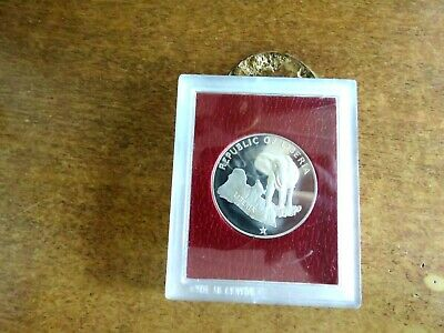 Liberia 1974 Proof Silver 5 Dollars.!