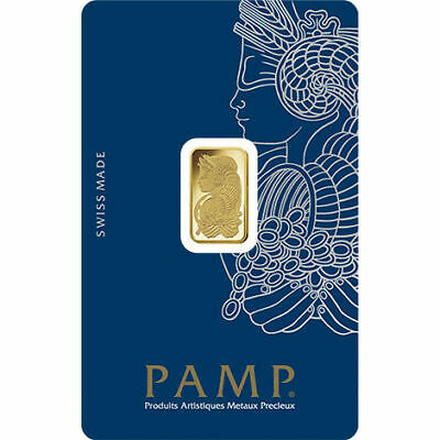 2.5 gram Gold Bar - PAMP Suisse Lady Fortuna Veriscan® In Assay Card
