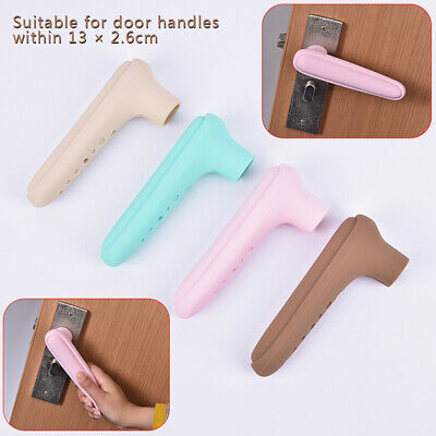Home Door Handle Knob Silicone doorknob Safety Cover Guard Child Protect kz