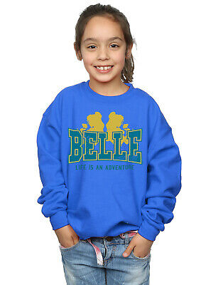 Disney Girls Princess Belle Adventure Collegiate Sweatshirt